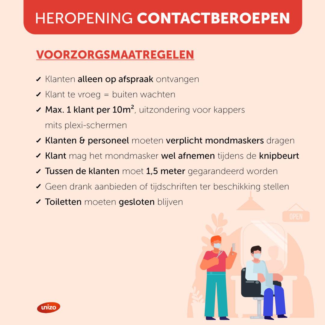 Heropening contactberoepen